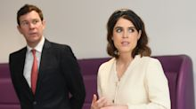 Princess Eugenie visits hospital where she underwent spinal surgery for first engagement with Jack Brooksbank
