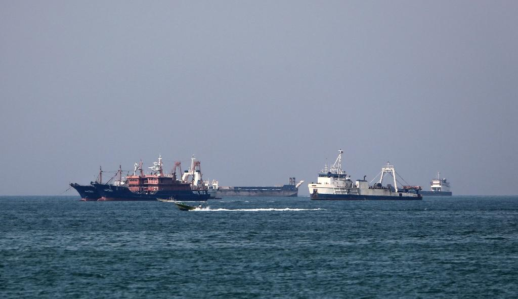 The Iranian port of Bandar Abbas on the strategic Strait of Hormuz, where much of the world's oil ships through