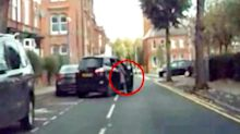 Woman dragged along road after thief steals car