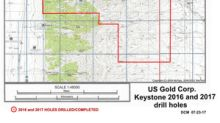U.S. Gold Corp. Provides 2017 Keystone Scout Drilling Results and Update