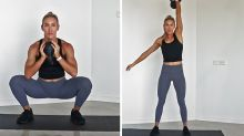 15-minute kettlebell workout with Sweat trainer Cass Olholm