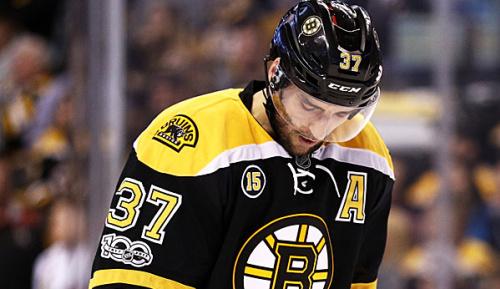 NHL: Bergeron spielte ganze Saison mit Hernie