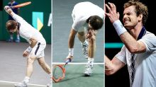 Andy Murray destroys racquet in ugly meltdown at ATP event