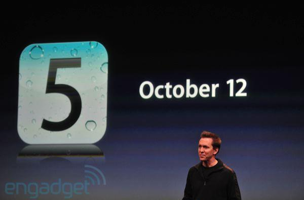 iOS 5 will be available October 12, iCloud launching the same day