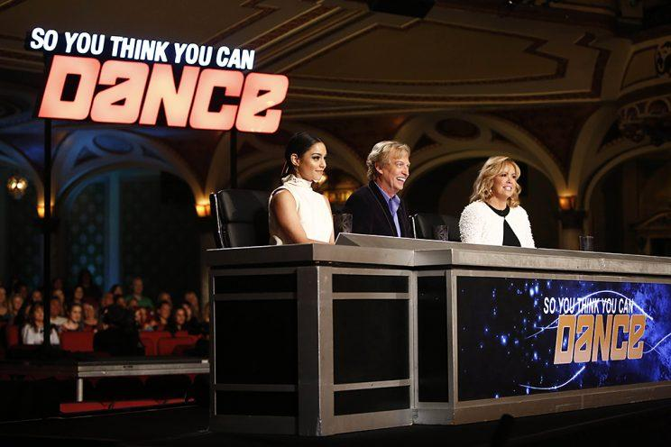 Judges Vanessa Hudgens, Nigel Lythgoe and Mary Murphy on Fox's So You Think You Can Dance. (Photo Credit: Adam Rose/FOX)