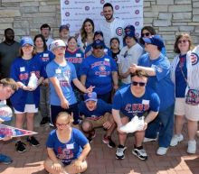 Kris Bryant surprises kids at hospital, is greeted with sweet marriage proposal