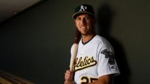 Stephen Piscotty goes to bat against ALS in support of his mother