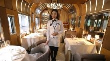 All aboard: luxury Japanese train has bath and fireplace