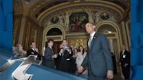 Politics Breaking News: Obama Confers With Democrats on Capitol Hill