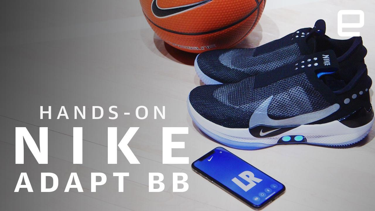 Adapt BB auto-lacing basketball shoes