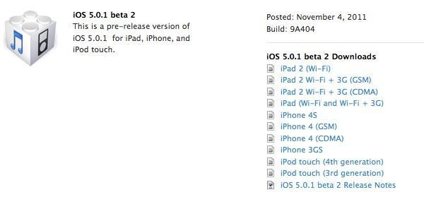 Apple seeds iOS 5.0.1 beta 2 to developers, beta 1 was so yesterday...