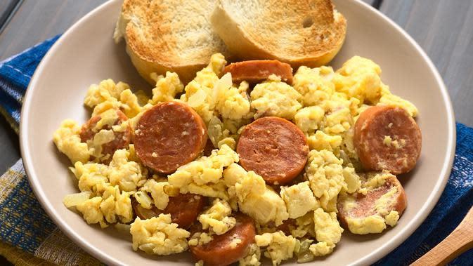 Resep Praktis Orak Arik Telur Dan Sosis Enaknya Sadis