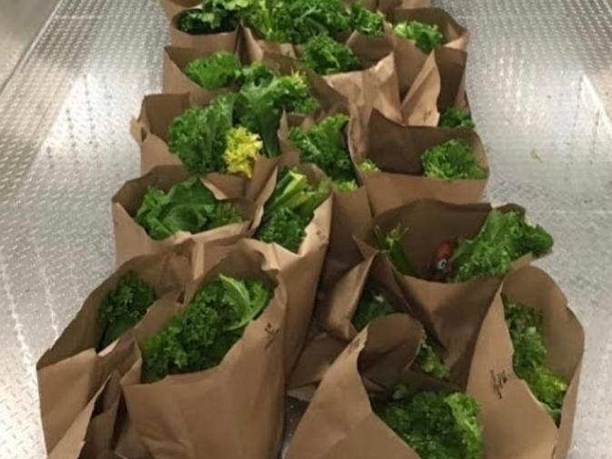 The groceries are bagged and waiting for you!