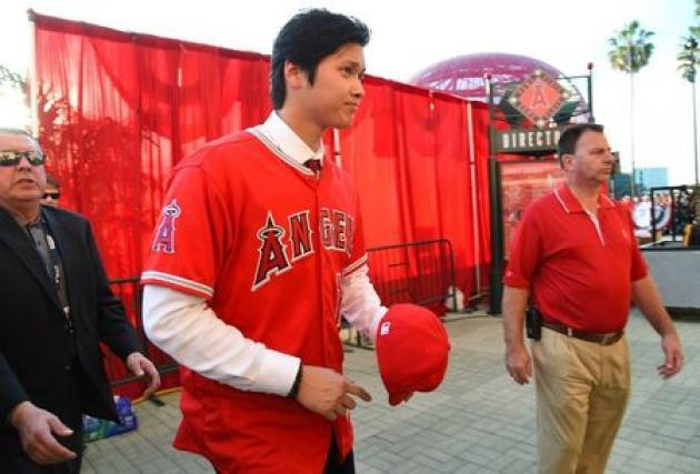 <p>Baseball: Ohtani introduced by Angels amid high expectations</p>
