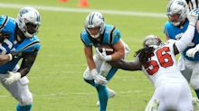 Panthers running back Christian McCaffrey out for up to six weeks with ankle injury