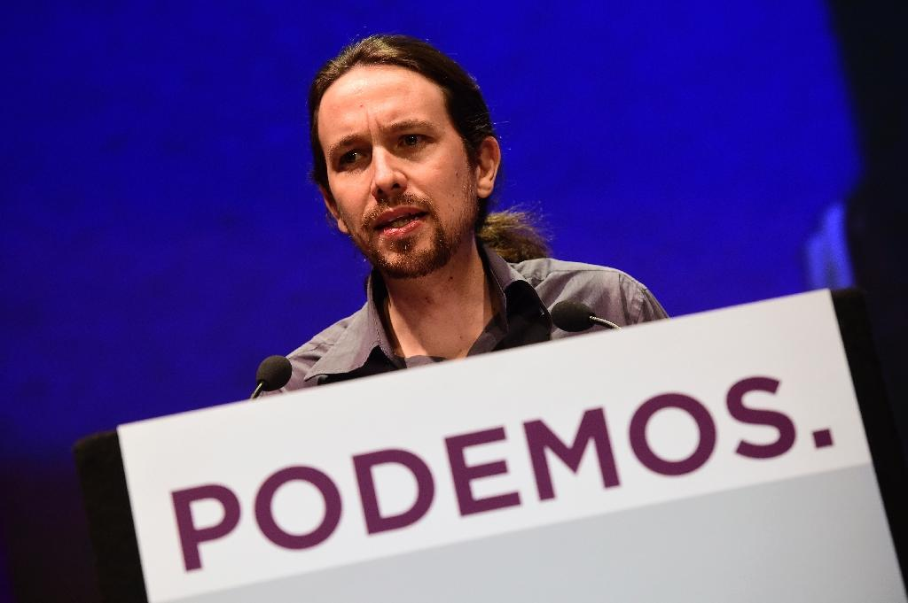 Pablo Iglesias appeared tired and hesitant on Sunday during a televised debate (AFP Photo/Javier Soriano)