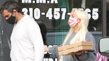 Lady Gaga Continues Her No-Pants Streak While Picking Up Dinner with Boyfriend Michael Polansky