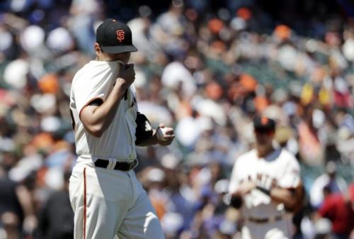 Matt Moore has the worst ERA in the NL. (AP)