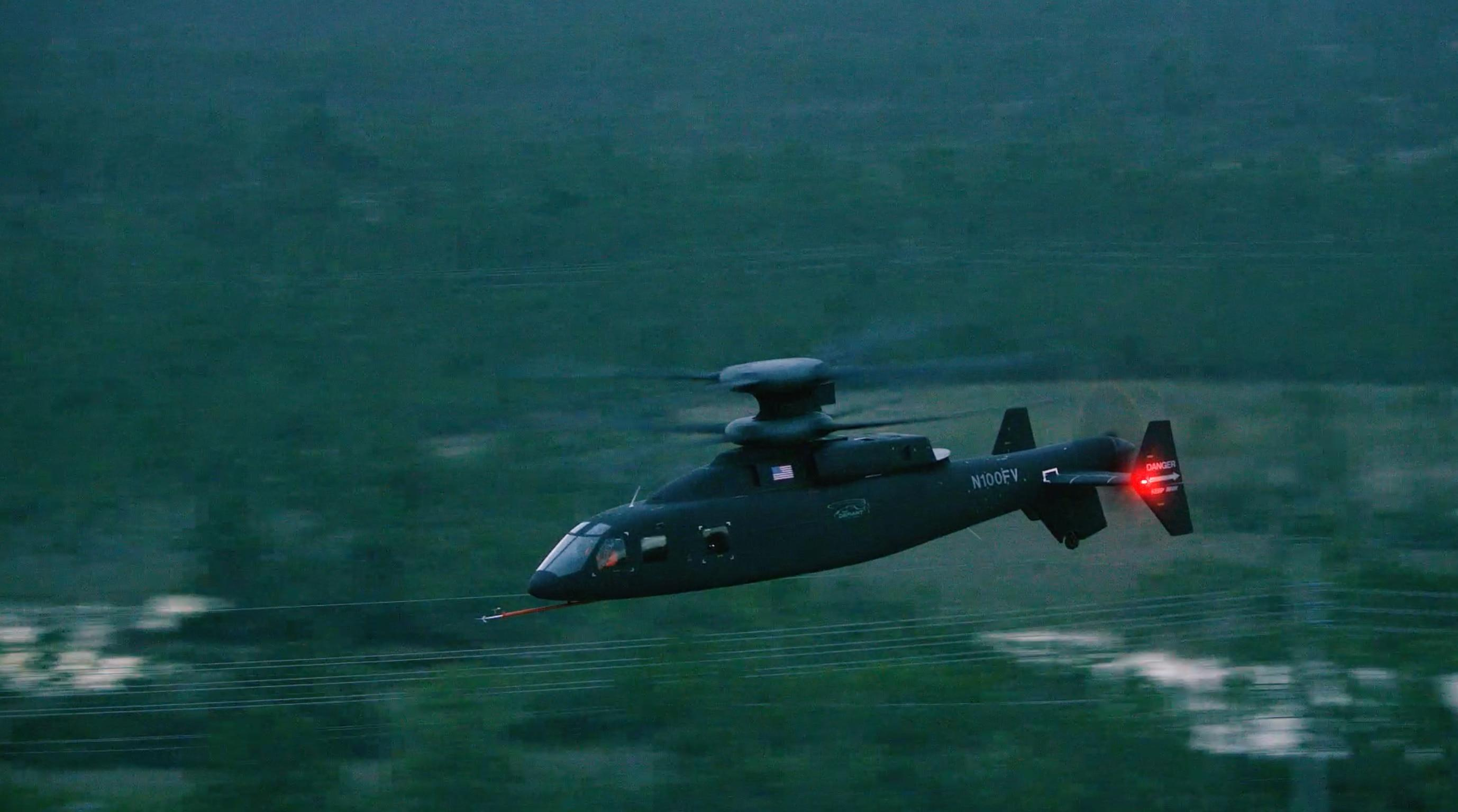See the experimental Sikorsky-Boeing Defiant helicopter hit a new speed milestone
