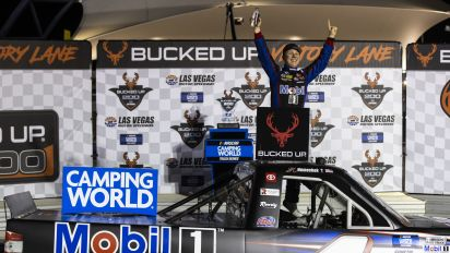 Nemechek beats boss Busch to win Truck Series race at Vegas