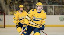'Late bloomer' Kent Johnson takes big strides at Michigan, in NHL draft rankings