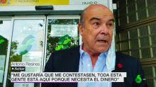 Antonio Resines, muy enfadado cuando le impiden entrar en la Seguridad Social