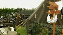 WWII enthusiasts re-enact camps in Normandy