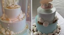 Bride's shock as cake is topped with 'balls'