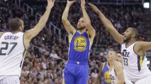 Warriors complete sweep of Jazz, match Cavs' 8-0 start to playoffs