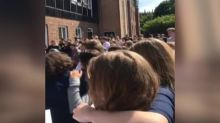 Manchester choir sings Oasis song in tribute to bombing victims