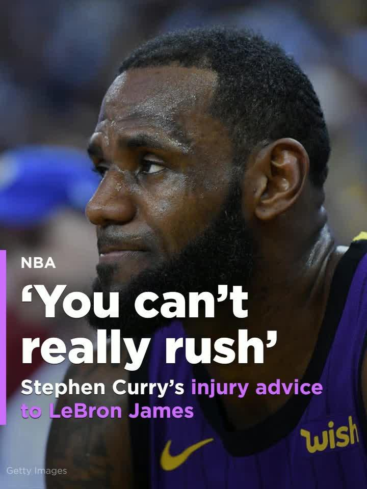 1f90e9f69fa Stephen Curry speaks on LeBron James  groin injury   That is one you can t  really rush   Video