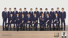 日本足球國家隊穿上dunhill武士藍決勝服列陣登場!