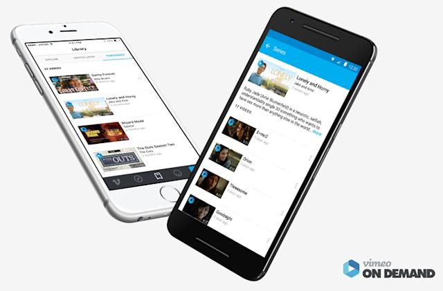 Vimeo makes it easy to find purchased videos on your phone