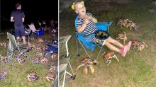 'Very mischievous': Family BBQ overrun by frightening creatures
