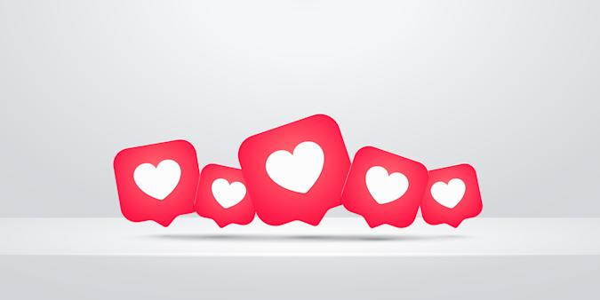 Heart like icon, flat vector illustration