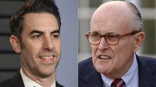 """La escena sexualmente comprometedora del abogado personal de Trump que aparece en """"Borat 2"""""""