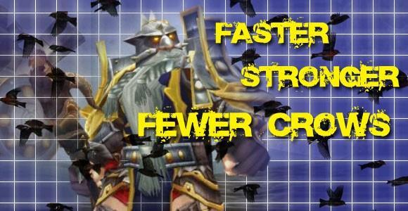 Scattered Shots: Faster, stronger, and with fewer crows