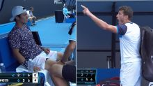 'Absolutely fuming': Furore over tennis player's 'illegal' act at Australian Open