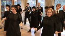 'The Crown' cast dance to Lizzo in video Gillian Anderson brands 'humiliating'