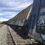 The Latest: Diesel fuel spilled in NV derailment; no hazmat