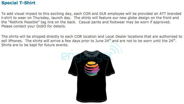 iPhone 4 launch day at AT&T stores: 7AM opening, awesome t-shirts confirmed