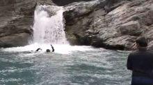 屏東來義鄉龍穴瀑布溯溪意外  一人溺斃