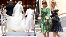 Princesses Eugenie and Beatrice attend royal wedding