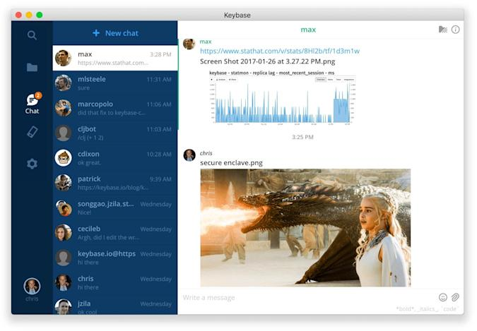 Keybase's encrypted chat works with accounts you already have