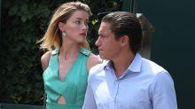 Amber Heard Kisses Vito Schnabel While at Wimbledon -- See the PDA Pics
