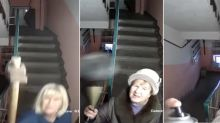 Russian residents unhappy about being caught on neighbour's camera