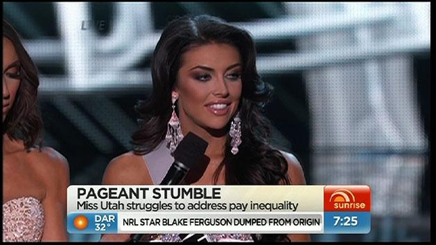 Miss Utah struggles with answer