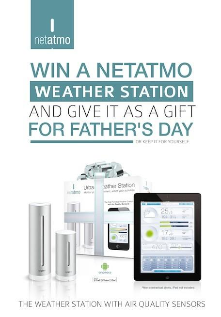 Win a Netatmo weather station for Father's Day