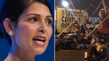 'Attack on democracy': Priti Patel condemns Extinction Rebellion newspaper blockade as Emily Thornberry says protest is 'very worrying'