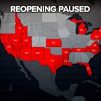 At least 20 states now pausing or rolling back reopening as COVID-19 cases rise